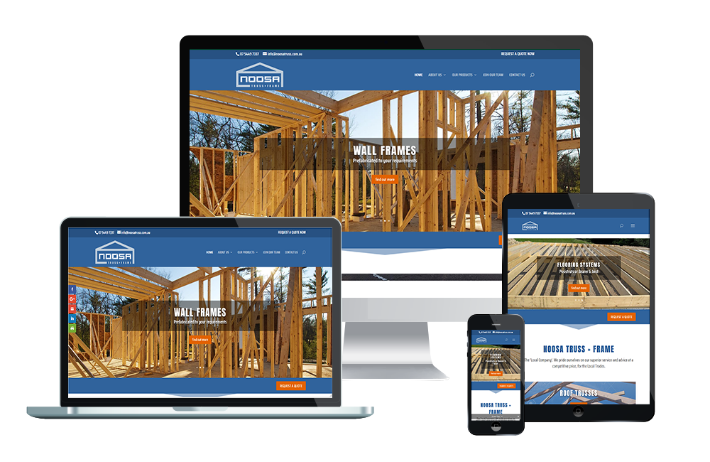 noosa truss & frame website